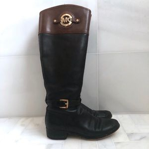 Michael Kors Two-Tone Leather Boots